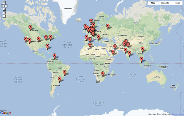 Visitor map capture